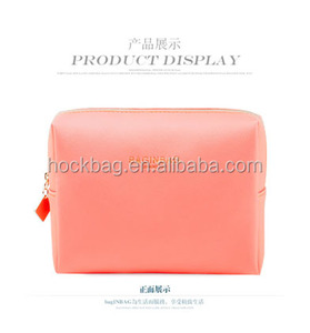 nice new pu women's water proof toiletry bag promotional Saffiano PU large capacity makeup bag personalized cosmetic b