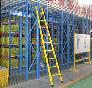 Hot sale China factory insulating full FRP fiberglass single straight ladder for electrician from manufacturer