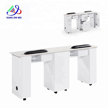 Luxury Salon Double nail table nail dryer table modern manicure table N031-2