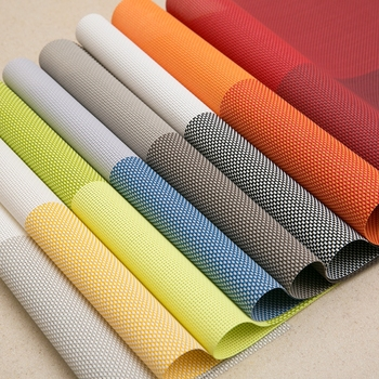 High Quality PVC Table Mats For Restaurant Plastic Woven Placemat Dining  Plate Dish Mat