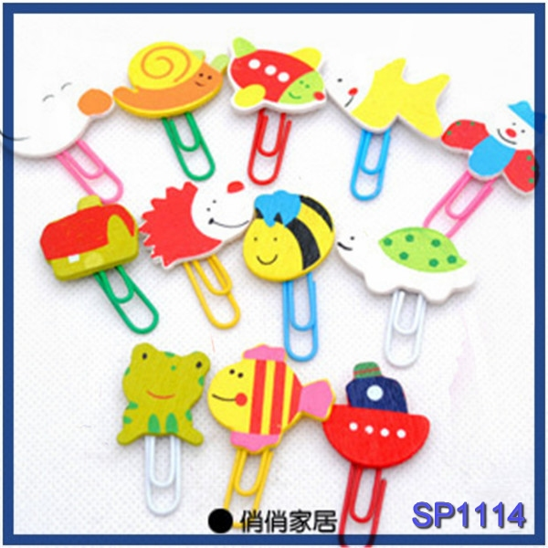free shipping wholesale items of fancy stationery metal wooden animal designs personalized paper <strong>clip</strong>