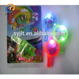 New design plastic LED flashing light whistle for party