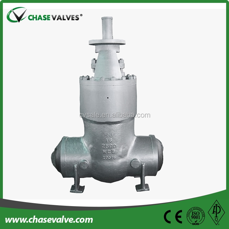 Api 600 Cast Steel Pressure Sealing Bare Stem Gate Valve