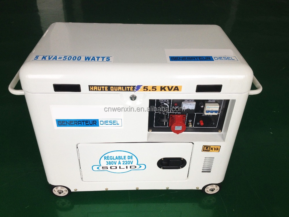5 KW silence diesel generator white color
