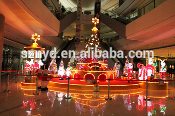 large christmas scenes stage decoration for big shopping mall decoration - Big Indoor Christmas Decorations
