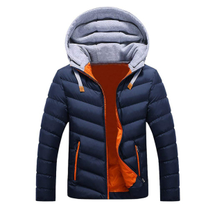 2019 Newest Custom Logo Men Jacket Coat With Hat Winter Candy Color Warm Thick Parka Fashion Cotton Casual Outwear Down Jacket