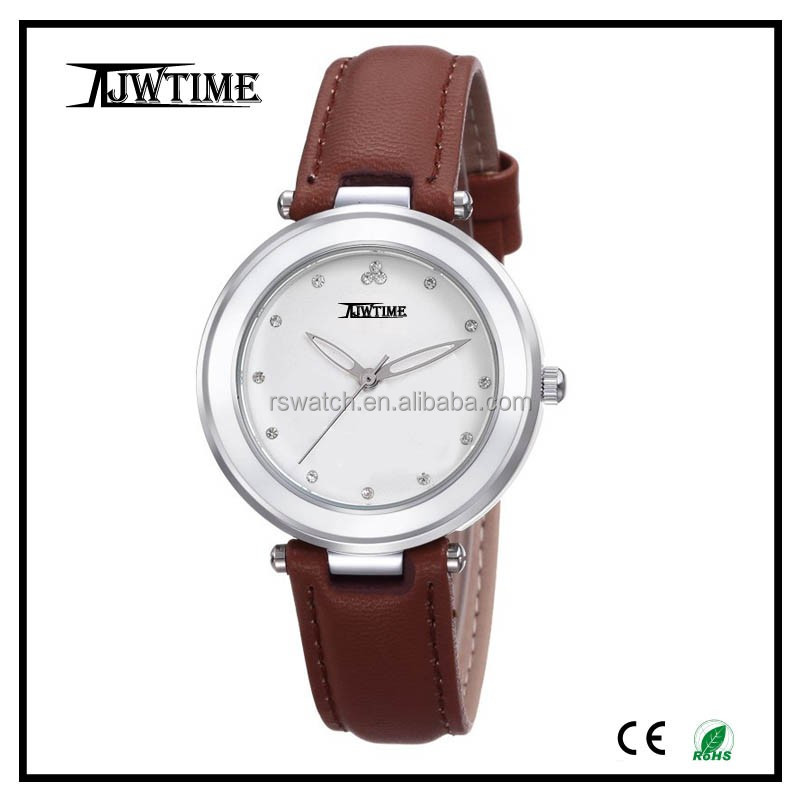 high quality 2017 custom brand watch stylish lady vintage round watch dial