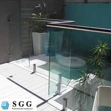 Custom high quality tempered glass fence panels