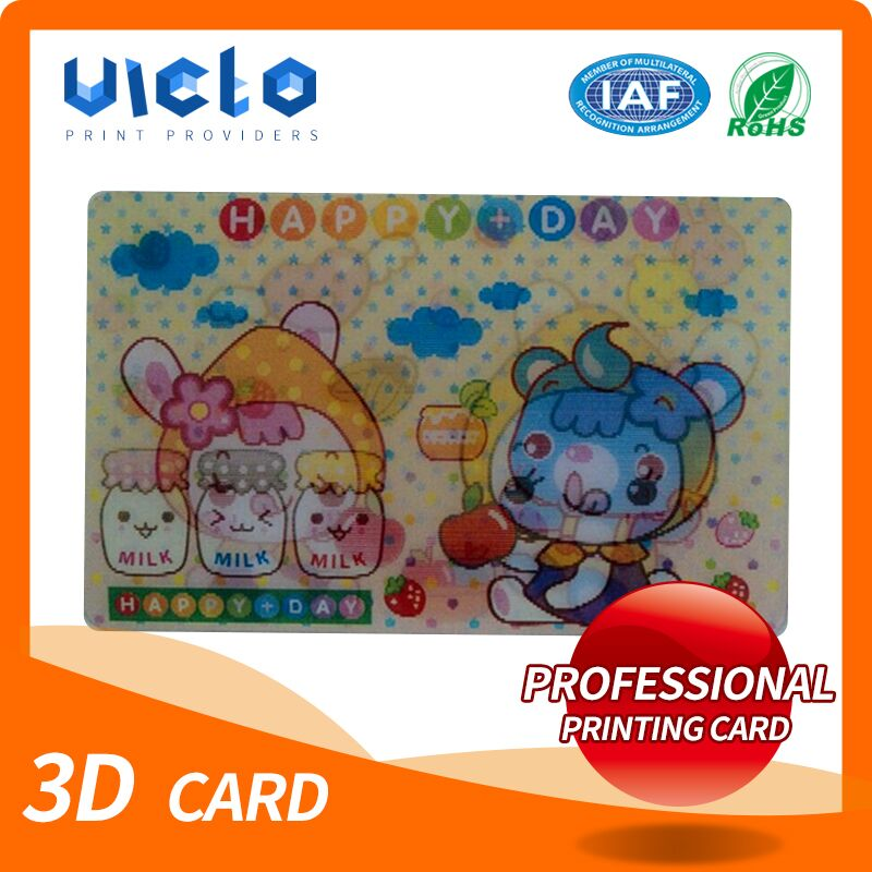 Brand new promotion pp pet 3d advertising poster cards From China supplier