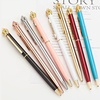 Promotional Custom Logo Multi-color Metal Twist Pen Gold King Crown Ballpoint Pen with Crystal