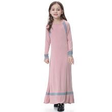 Плотное теплое платье для девочек-подростков, длинное платье для девочек-подростков 4-14 лет, вязаные платья для девочек, 2019(Китай)