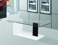 Modern glass coffee table with high gloss MDF for living room