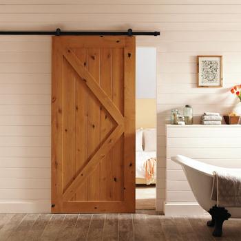 Unfinished Sliding Barn Door Design Drawing Room