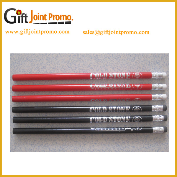 Customized Printing LOGO Cheap Wooden HB Pencil with Eraser