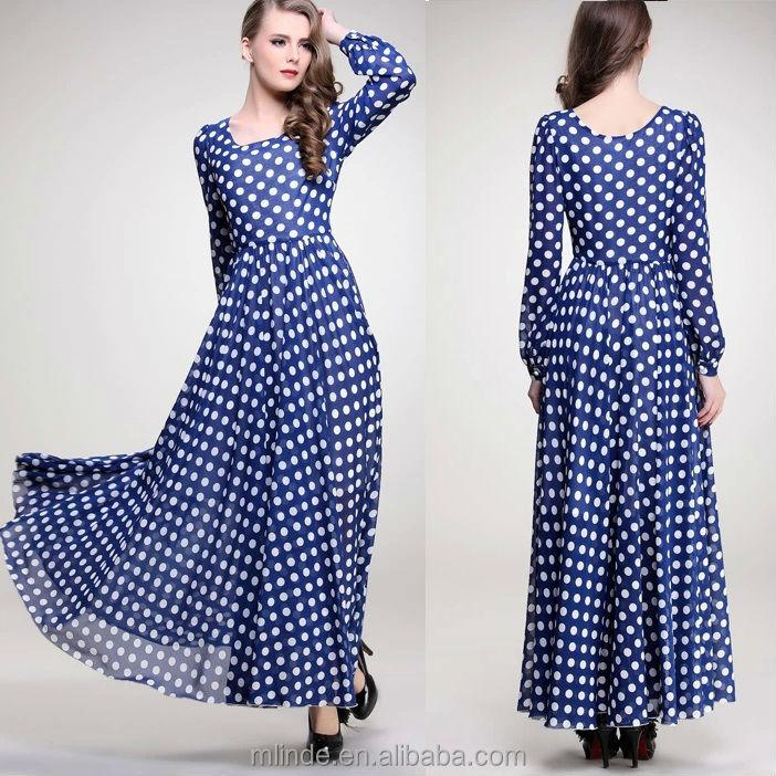 Plus Size Bohemian Maxi Dresses Long Women Lady Muslim Fashion Maxi ...