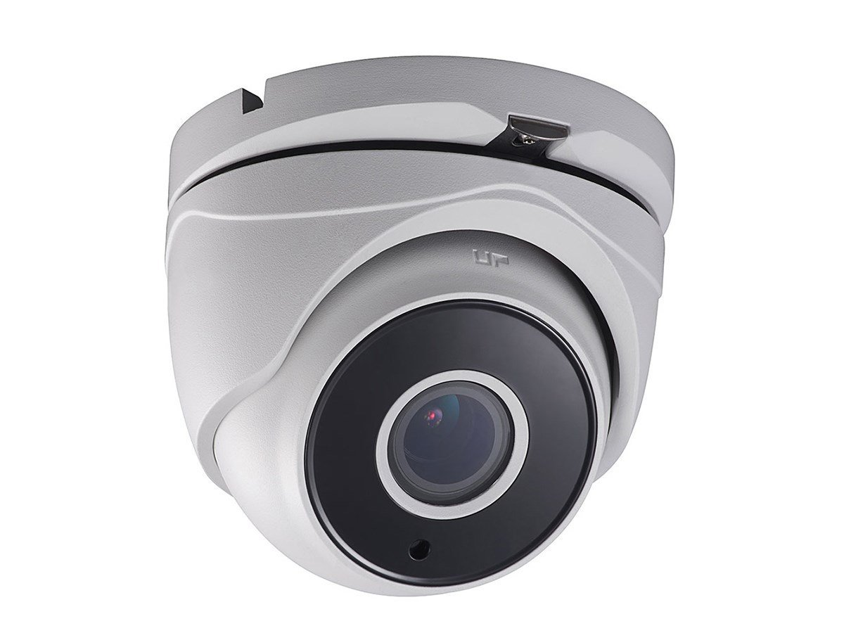 Monoprice 2.1MP HD-TVI Turret Security Camera 1920x1080P@30fps - White with a 2.8-12mm Motorized Varifocal Lens, True WDR 120dB, Matrix IR 2.0, and Motion Detection