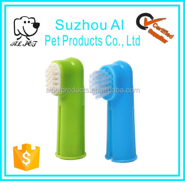 Pet Oral Dental Cleaning Teeth Care Hygiene Brush Dog Soft Finger Toothbrush