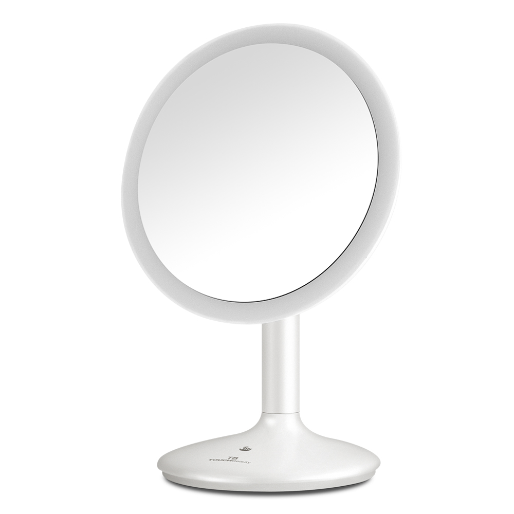 TOUCHBeauty Wholesale OEM Touch Switch USB Rechargeable 1X 5X Magnification Makeup Mirror with LED Light