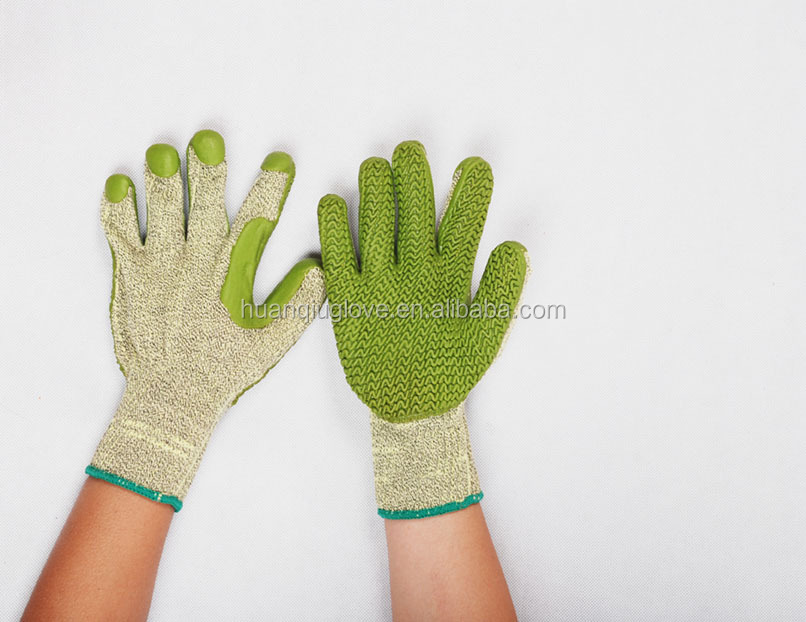 anti cutting long latex sleeve gloves