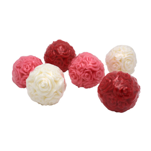 45G SCENTED ROSE FLOWER ROUND SHAPE BODY SOAP
