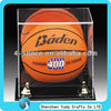 acrylic the memorabilia basketball display box ball case with gold riser manufacture price