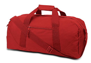 Utility wholesales factory red 600d polyester sports travel bag
