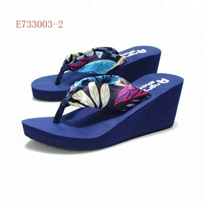 lady summer plastic wedge high heel sandals