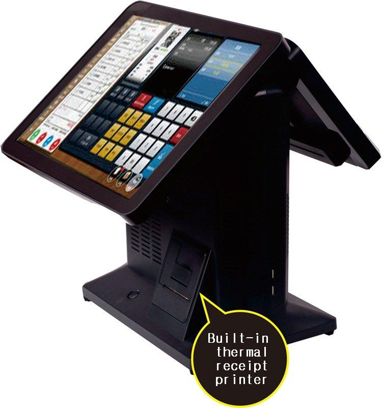 Point of sale system , all in one touch screen pos hardware integrate thermal printer