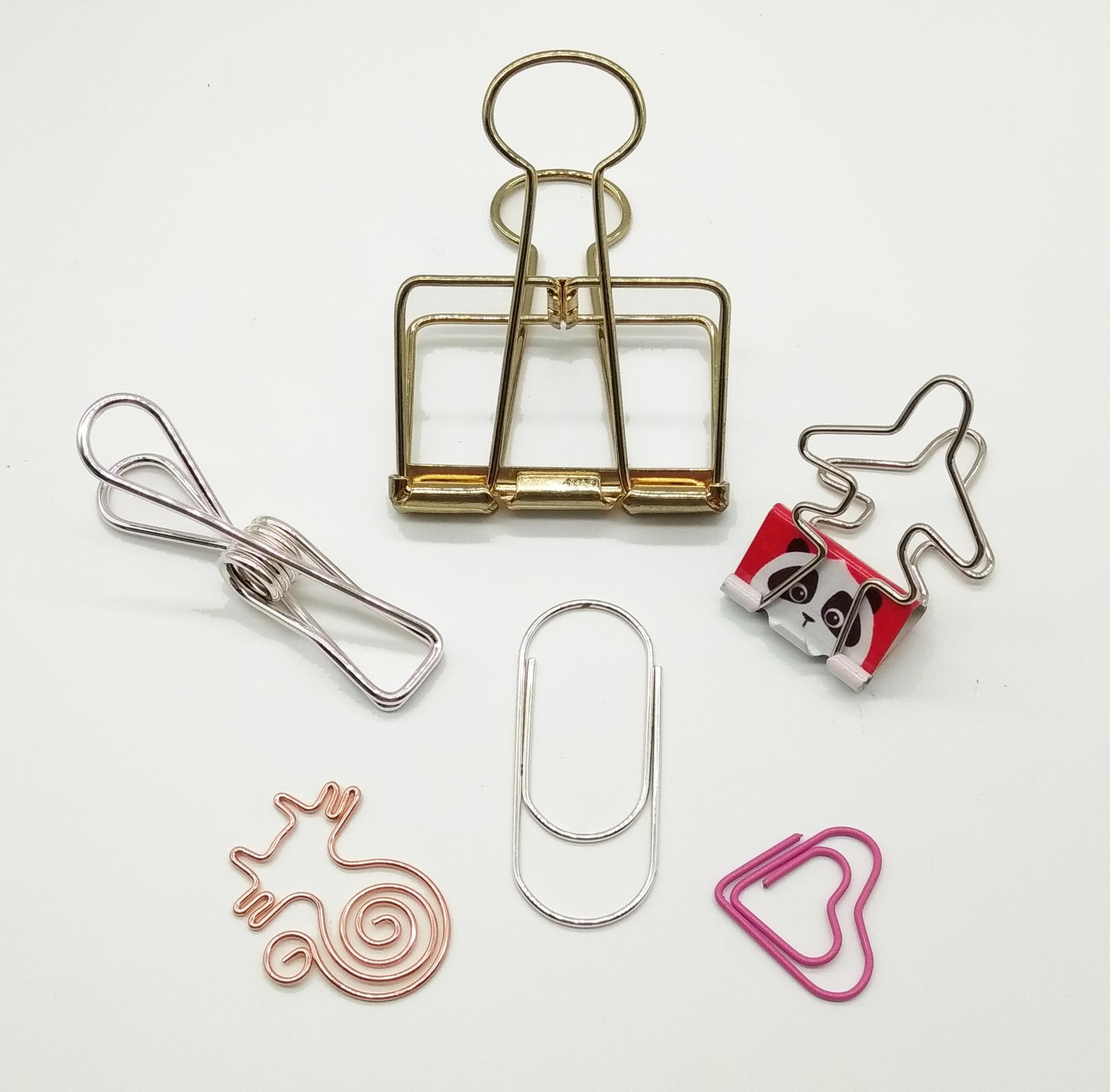 Cheap Wholesale Creative Metal Hollow Binder Paper Clip
