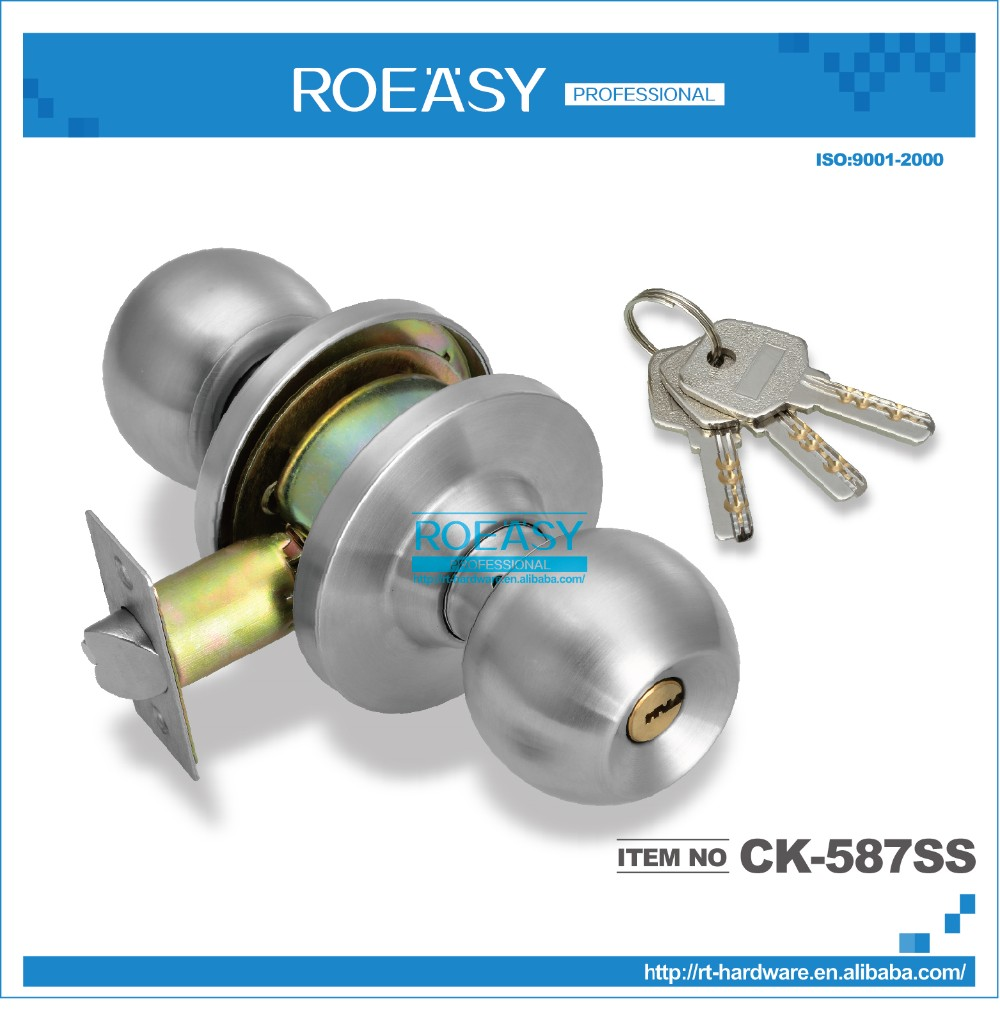 High Quality Stainless Steel Cylindrical Knob Lock 587 Ss-et (600g ...