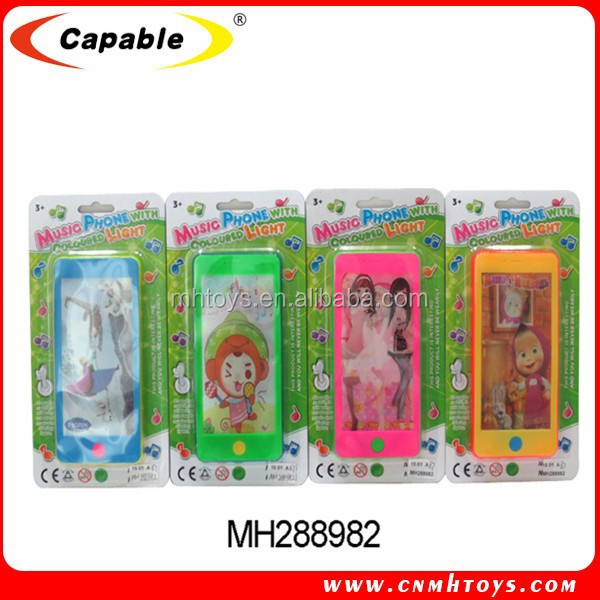 Plastic toy mobile phone for kids,kids toy 3D cell phone with music and light