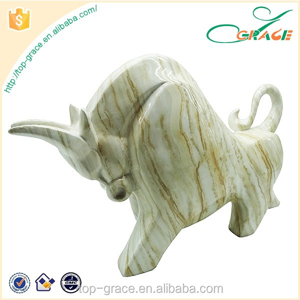 Active animal resin rhinoceros for home decoration