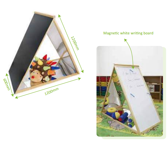 Children's montessori  wooden game furniture kindergarten triangle mirror acrylic mirror anti-break