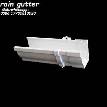 Pvc 5 2 Quot K Style White Rain Gutter System Roof Gutter