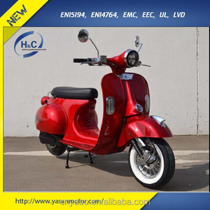Hot selling 1500W vespa style electric scooter parts with removable battery