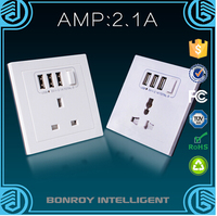 Grounding embedded USB charging socket panel usb wall socket