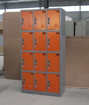 Strong Orocan Cabinet /12 Doors Wardrobe Designs/customized Foldable Metal  Lockers