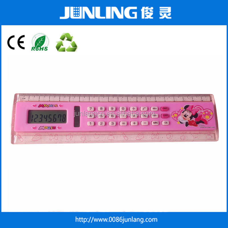 Hot Sales Cheap Solar Powered Ruler Calculator for Promotion