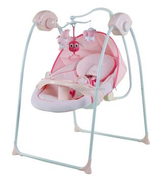 Baby Schommelstoel Roze.Baby Wieg Schommel Elektronische Producten Babybett Elektrische