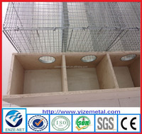Hot dipped galvanized welded wire mink breeding cage ( Manufacturer )