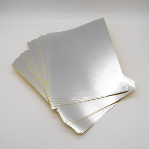 Gold PET material rectangle customized size sheet sticker adhesive label