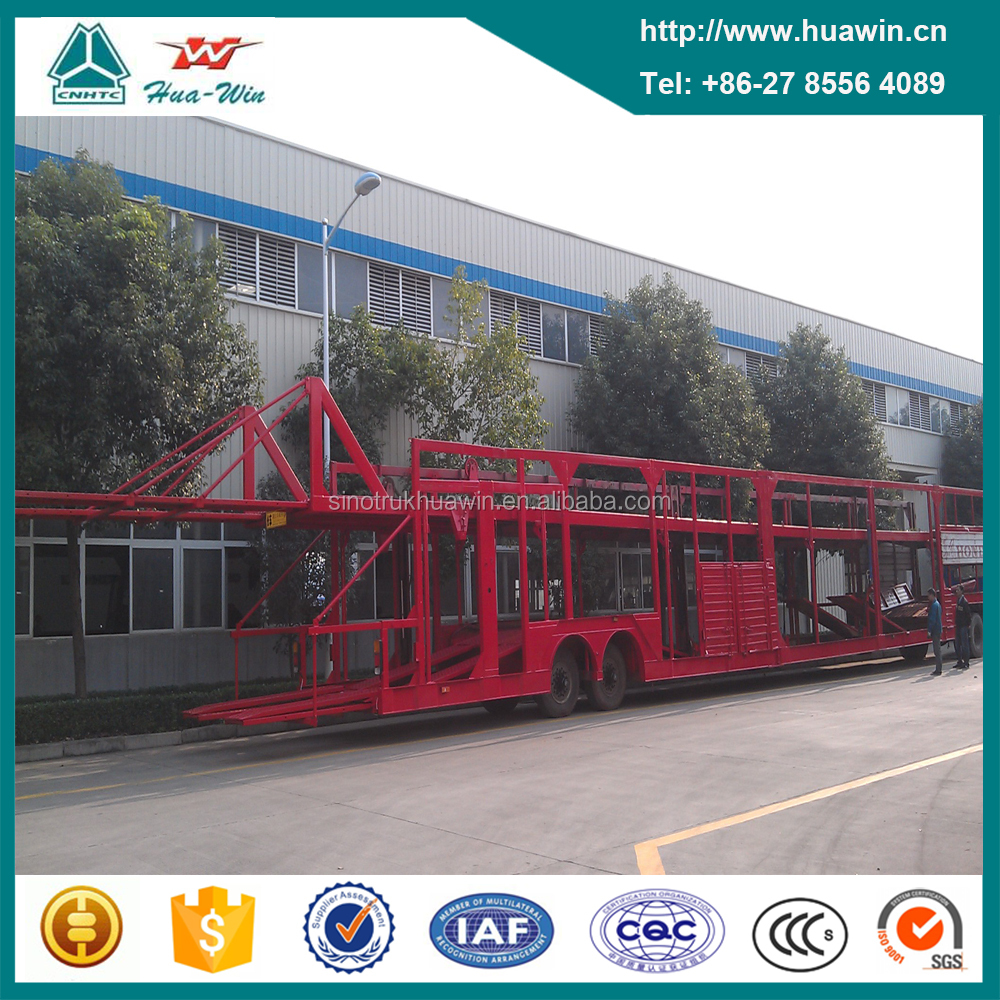 Double Axles 8 Car Carrier Transport Semi Trailer for Sale