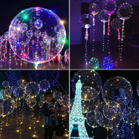 Toprex decor colorful led light up flying helium luminous balloon in event party