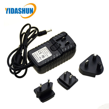 AC DC Switching wall mount power adapter 12V 2.5A with interchangeable plug for led light/cctv/tablet
