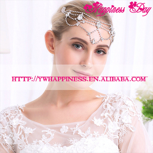 Handmade Indian Jewelry Women Forehead Jewelry For Wedding Bridal Crystal Rhinestone Headband Party Accessory Princess Headpiece