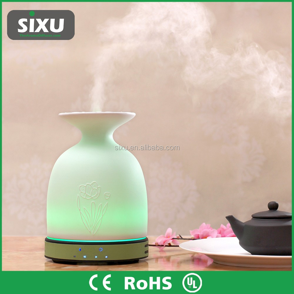 Wood mist aroma diffuser ultrasonic auto aromatherapy electric air freshener