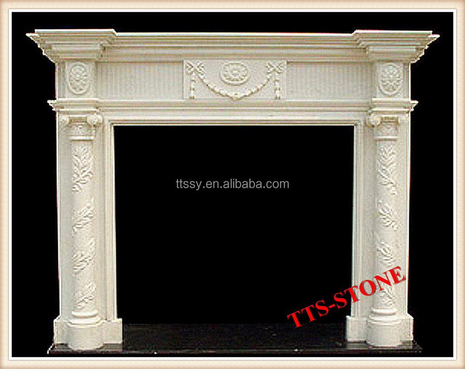 chinese stone artificial marble fireplace surround