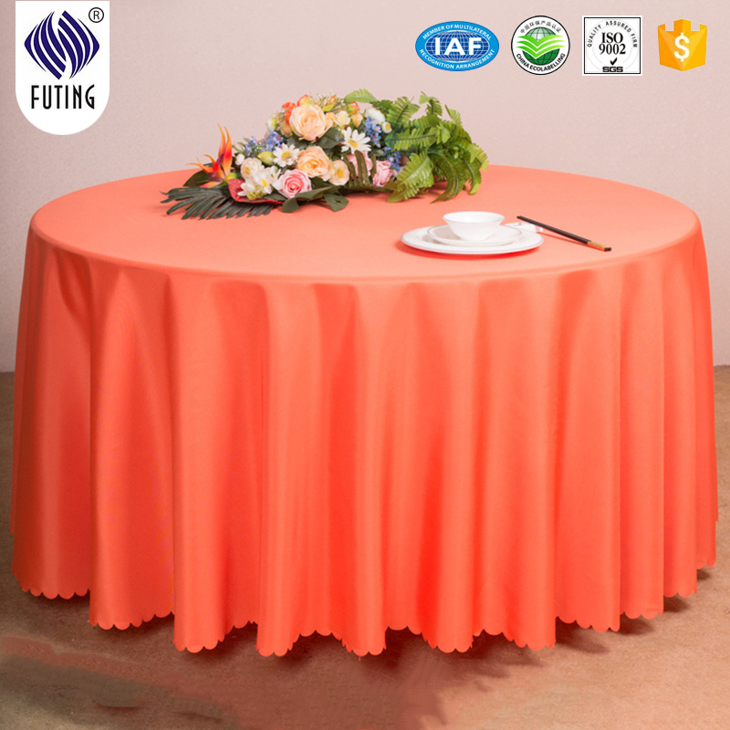 Hot sell cheaper polyester microfiber tableclothes for hotel made in PRC