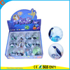 High Quality Kid's Toy Rubber 65mm Penguin Flashing water bouncy ball