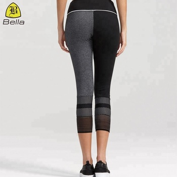 Elastane yoga fitness sexx photo contour textured colorblock leggings